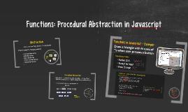 Functions in Javascript