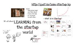 Lean Startup Kaospilot