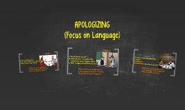 FOCUS ON LANGUAGE: APOLOGIZING (I08)