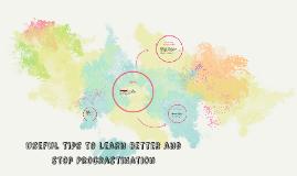 Tips to stop Procrastination