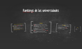 Rankings de las universidades
