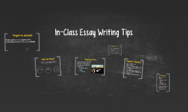 ENG 101 In-class Essay Writing
