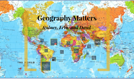Geography Matters.......
