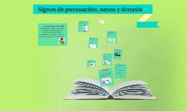 Signos de puntuación, nexos y sintaxis