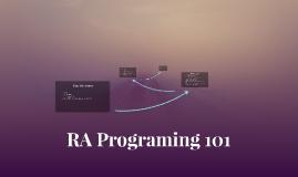 RA Programing 101