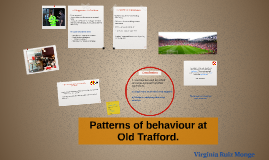 Patterns of behaviour at Old Trafford.