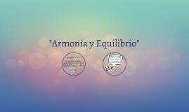 ARMONIA Y EQUILIBRIO