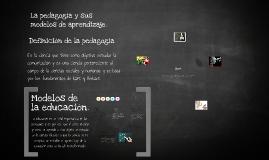 Copy of La pedagogía y sus modelos de aprendizaje.