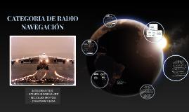 CATEGORÍA DE RADIO NAVEGACIÓN