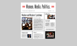 Women. Media. Politics.