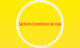 Copy of Sectores Económicos de Asia