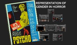 Representation of Gender in Horror