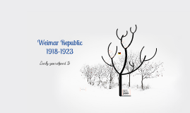 The early years of the Weimar Republic 1918-1923
