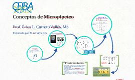 Conceptos de Micropipeteo