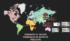 Copy of KABANATA 24  HULING PAGBABALIK SA BAYAN AT PAGLILITIS