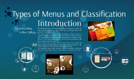Types of menus and classification