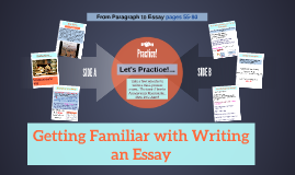 Getting Familiar with Writing an Essay