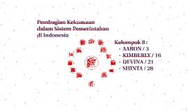 Pembagian Kekuasaan dalam Sistem Pemerintahan di Indonesia
