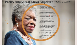 Poetry Anaysis of Maya Angelou