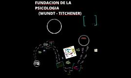Copy of FUNDACIÓN DE LA PSICOLOGÍA                                     (Wundt - Titchener)