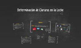 Determinación de Cloruros en la Leche