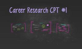 Career CPT #1