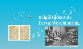 België tijdens de Eerste Wereldoorlog