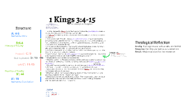 1 Kings 3:4-15 Exegesis