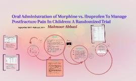 Morphine vs. Ibuprofen