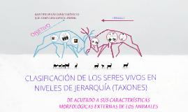 Copy of CLASIFICACIÓN DE LOS SERES VIVOS EN NIVELES DE JERARQUÍA (TAXONES).