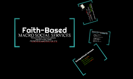 Faith-Based Macro Social Services