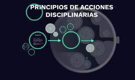 PRINCIPIOS DE ACCIONES DISCIPLINARIAS