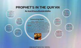 PROPHET'S IN THE QUR'AN