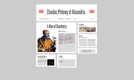 Claudius Ptolemy of Alexandria