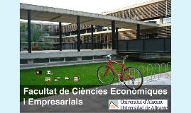 2016 Presentació SLC a la Facultat d'Econòmiques i Empresarials (Universitat d'Alacant)