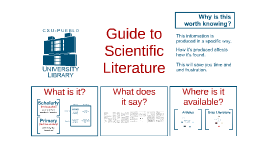 Guide to Scientific Literature (Bio)