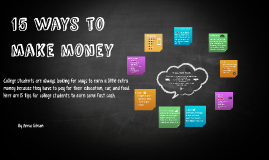 15 ways to make money