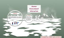 Human Environment Interacction