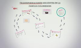 TRASNSFORMACIONES RECIENTES EN LA FAMILIA COLOMBIANA