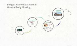 Bengali Student Association General Body Meeting