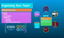 Organizing Your Paper