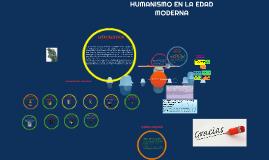 Copy of HUMANISMO EN LA EDAD MODERNA