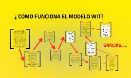¿ COMO FUNCIONA EL MODELO WIT?