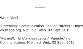Parent and Child Communication