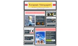 Copy of European newspapers