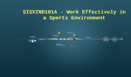 SISXIND101A - Work Effectively in a Sports Environment