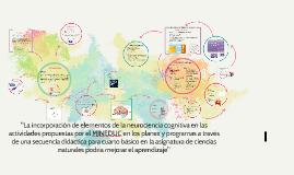 La incorporación de elmentos de la neurociencia cognitiva en