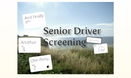 Elderly Driver Screening