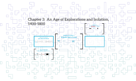 Chapter 3:  An Age of Explorations and Isolation, 1400-1800