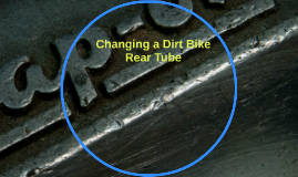 how to put on dirt bike rear tire